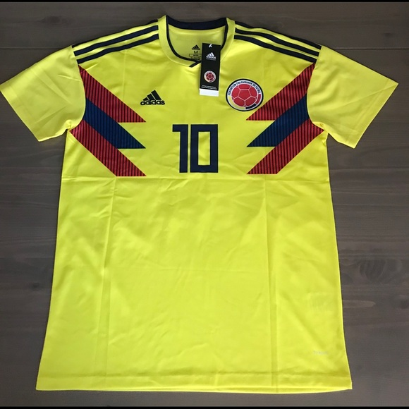free shipping 92218 ec480 Colombia James #10 Soccer Adidas jersey men 17/18 NWT